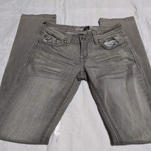 REQUEST Jeans Faded Gray Denim Straight Leg